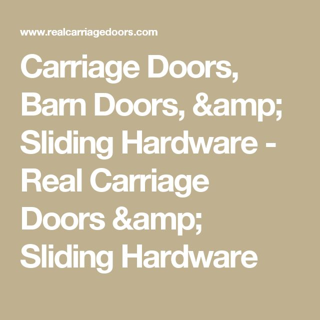 how to build carriage doors