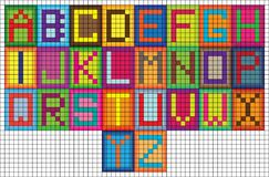 Colorful Modern Square Mosaic Alphabet Letters Stock Photography - Image: 34144962