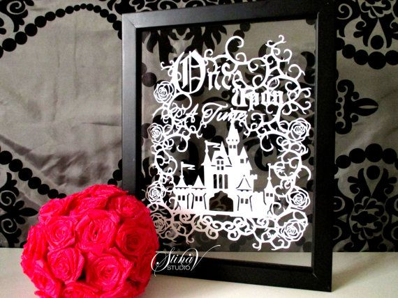 Once Upon a Time Handmade Original Papercut by StinaVStudio #magic #castle #ouat #fairytale #papercut #scherenschnitte