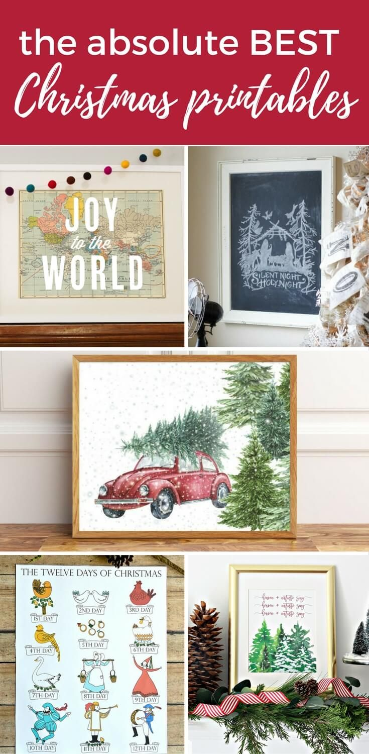 Christmas printables are such an affordable and easy way to add Christmas decor to your home. These Christmas printables are the absolute best of the best!