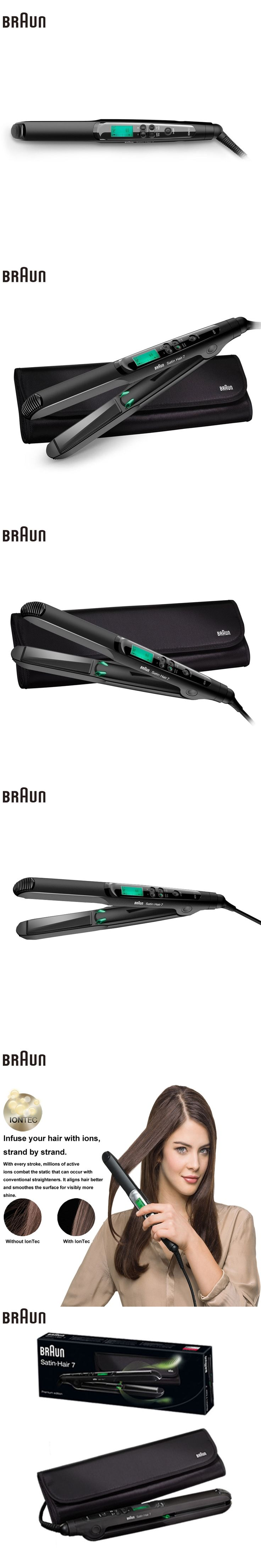 Braun Satin Hair 7 Iontec Straightener ST730 Hair Care Styling Tools Curling Straightening Irons Professional Roller 100-240v