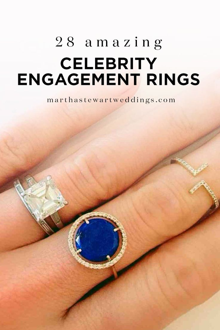 28 Amazing Celebrity Engagement Rings Via Martha Stewart Weddings