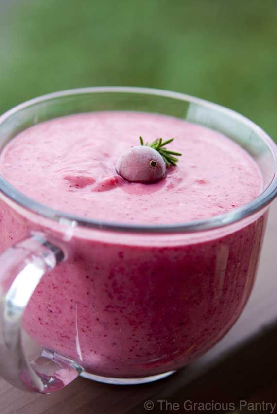 Clean Eating Cranberry Banana Smoothie - 8 oz. fresh cranberries   2 small banana   1 cup canned, light coconut milk, no sugar added