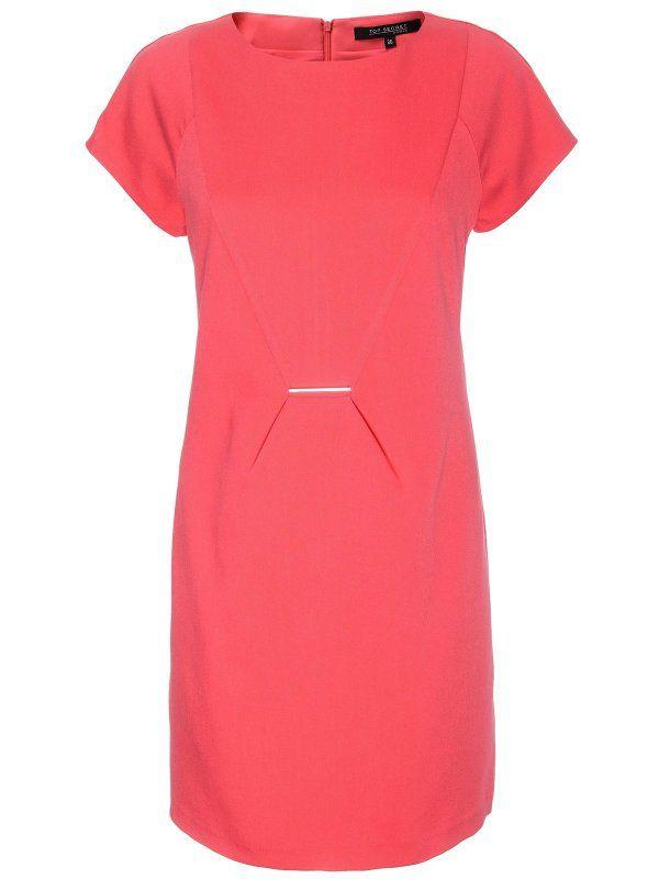 sukienka damska  różowa - SSU1477 TOP SECRET