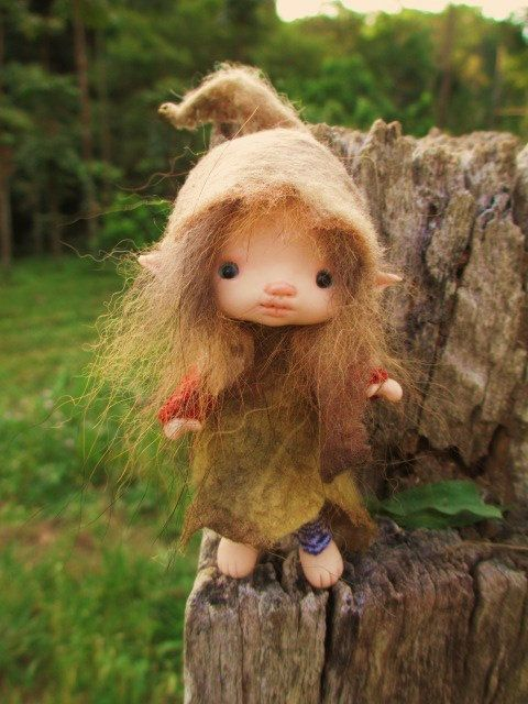 sweet tiny ooak posable 4 inch fairy fairie by throughthemagicdoor, $98.00