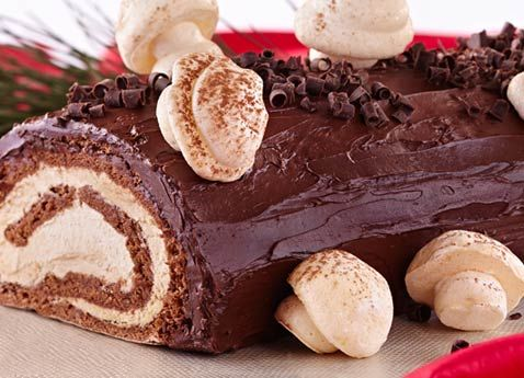 Yule Log and Meringue Mushrooms Recipe - Viking River Cruises