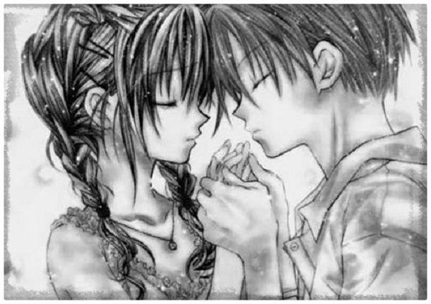 Dibujos De Amor De Anime Con Frases A Lapiz Dibujos De Amor Dibujos Anime