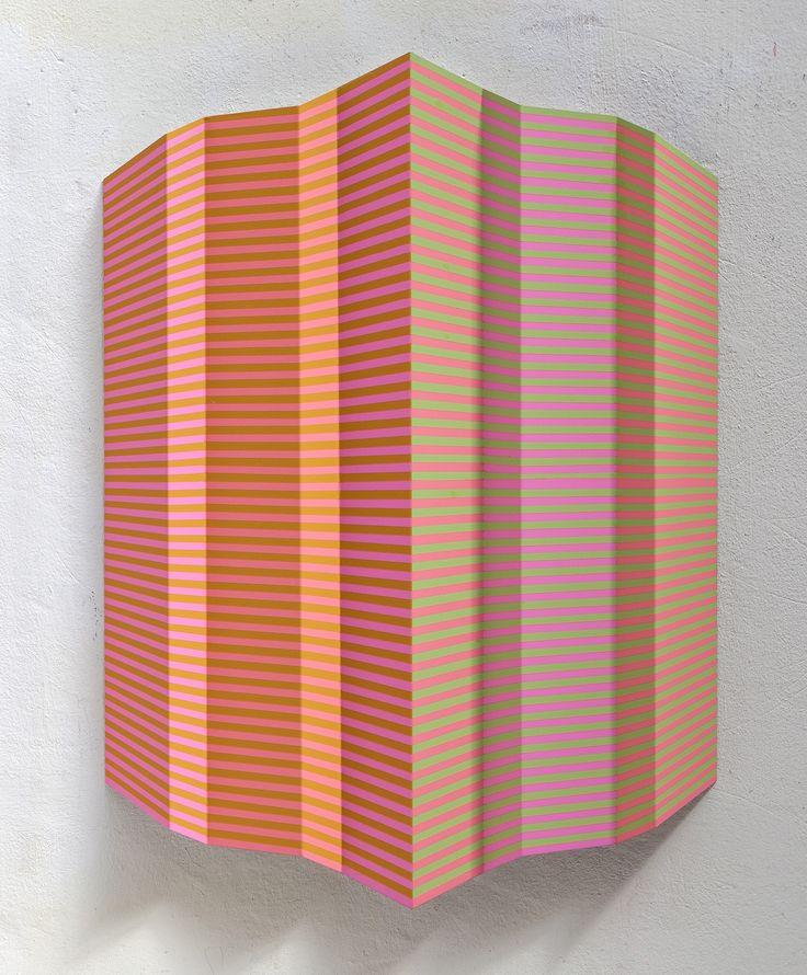 """3/14,  """" MSE XX"""", 105x76x7cm, Relief: Acryl auf Alublech gefaltet Edgar Diehl 2014"""