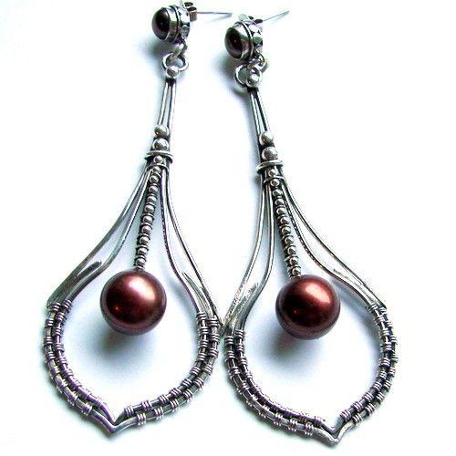 Listki kolczyki - Kolczyki - Biżuteria srebrna
