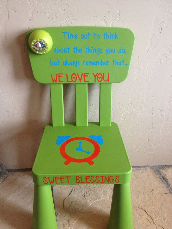 Personalized Time Out Chair with Timer by SwirlyTwirlyDesigns