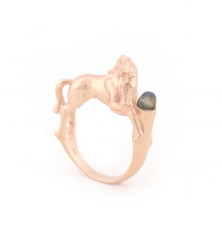 WILD HORSE RING ROSE GOLD