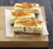 Cheesecake de salmón ahumado y queso