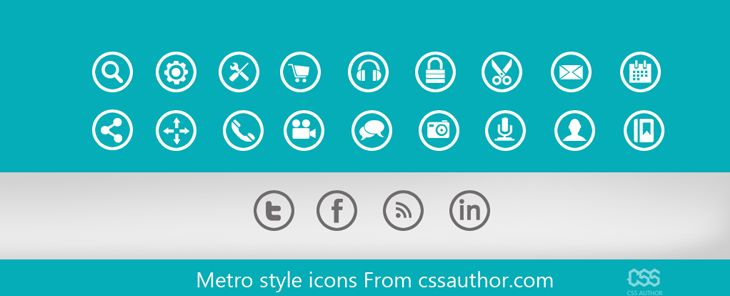 Beautiful Metro style icons PSD for Free Download - cssauthor.com