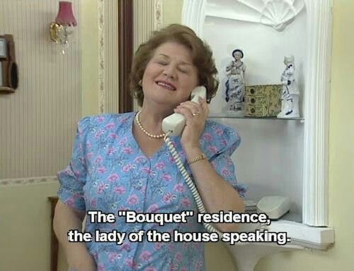 Keeping Up Appearances: bouquet residence lady of the house speaking