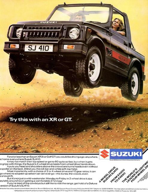 1984 Suzuki SJ410 4WD Suzuki cars, Suzuki jimny