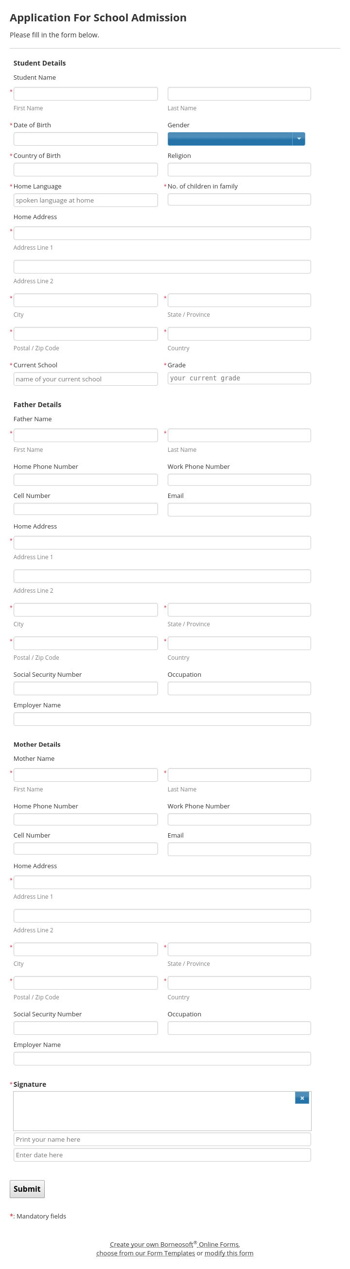 Best 25 school admission form ideas on pinterest admission form find this pin and more on borneosoft form templates by borneosoft pronofoot35fo Choice Image