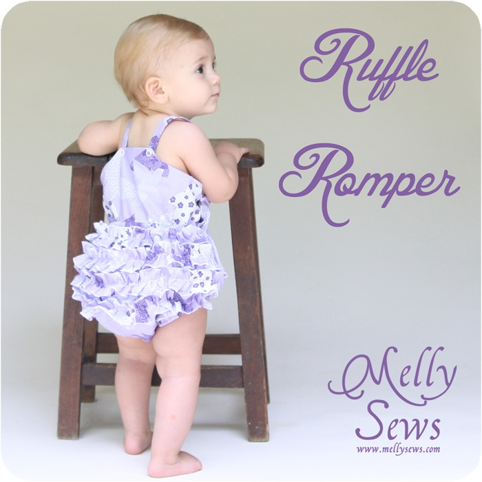 Melly Sews: Ruffle Romper - with free pattern! MUST MAKE THIS FOR AUBREY!!!