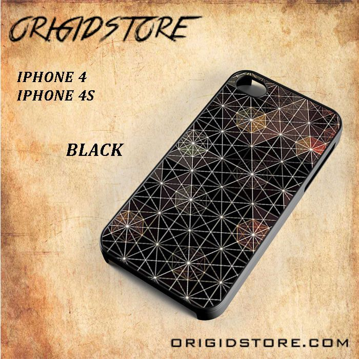 Geometric Non Flash Snap On Black White 3D For Iphone 4/4S Case