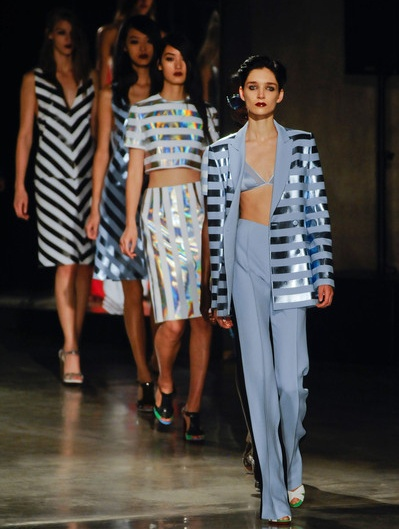 Trend Alert! Stripes |||||  Jonathan Saunders Spring Summer 2013.  #FashionWeek
