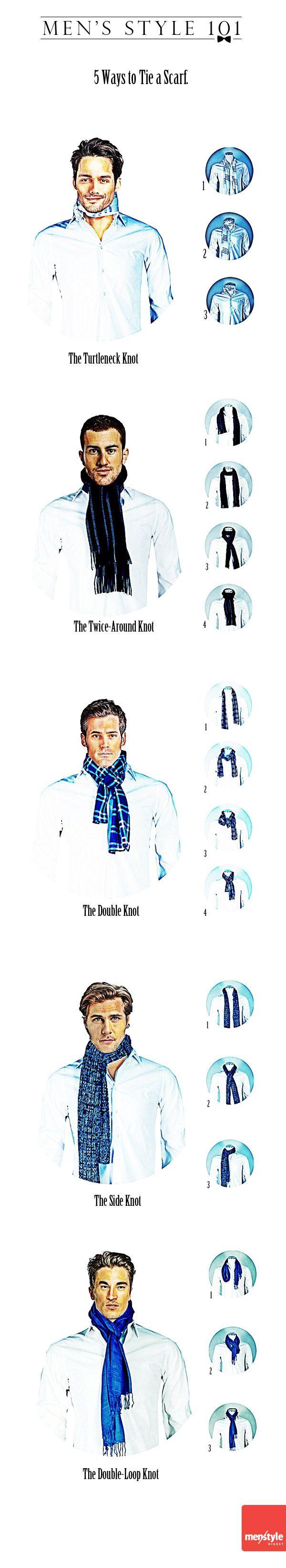 Men's style - 5 ways to tie a scarf