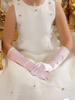 Перчатки детские Perlitta нарядные PACG0112210 розовые