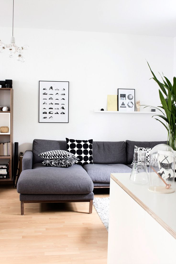 Home Decor – Living Room : Gray and white living room -Read More –
