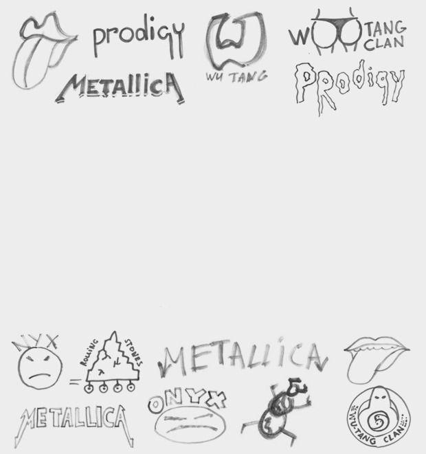 Дизайнеры Look At Media рисуют логотипы известных групп по памяти — Культура на FURFUR