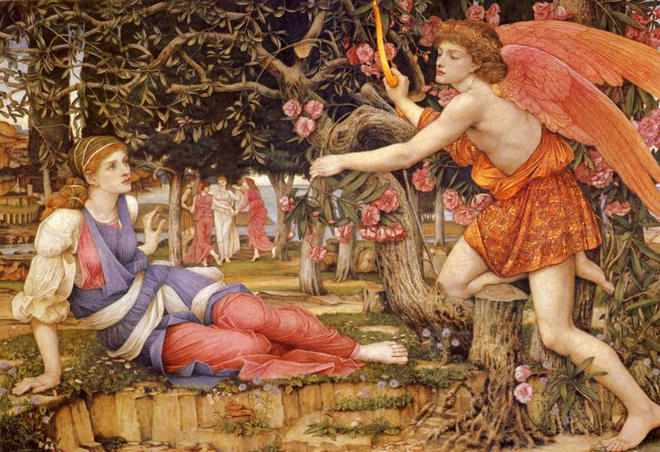 John Roddam Spencer Stanhope - Love and the Maiden (1877), regarded as the artist's masterpiece