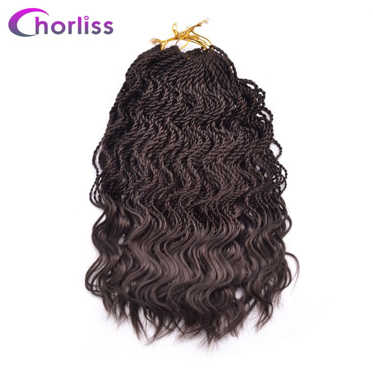 "Chorliss 14"" Curly Senegalese Crochet Braids Twist Synthetic Braiding Hair Extension Ombre  35 Roots/Pack Low Temperatur Fiber"