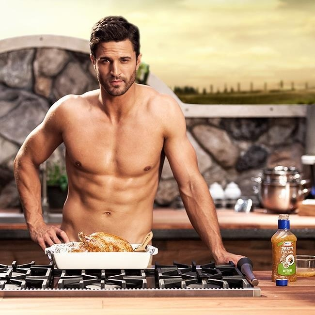 His name is Anderson Davis and he just made salad dressing sexy in Kraft's newest commercial for Zesty Italian Salad dressing.