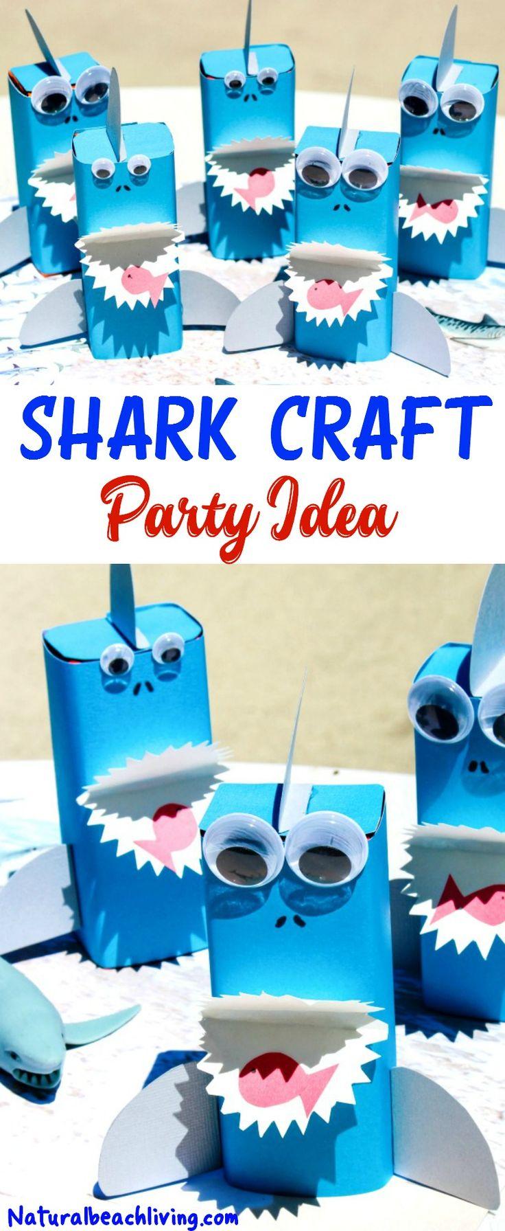 Shark Craft Perfect Under the Sea Party Idea, Shark Crafts for Kids, Shark Week Ideas for Kids, Ocean Theme Party Food Idea, Fun for a Kids Summer Idea