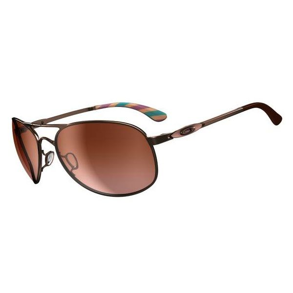 oakley sunglasses outlet coupons  oakley women's given sunglasses rose gold / vr50 brown gradient lens oo4068 05
