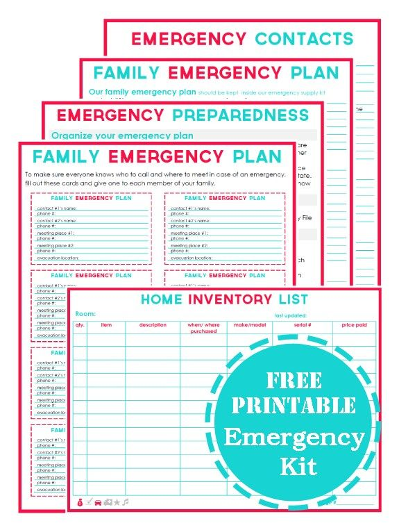 Thoughtful gal who is very 'in to' organising.  She has these free printables for emergency preparedness, which you can download, type in your own details and then print out.  Put them all into a folder and you'll have everything you need if something happens.  (And believe me - when that something happens EVERYTHING inside your brain suddenly goes down the plug hole and you can't even remember your own date of birth.  Yes, seriously. Stress wipes your brain for some reason).
