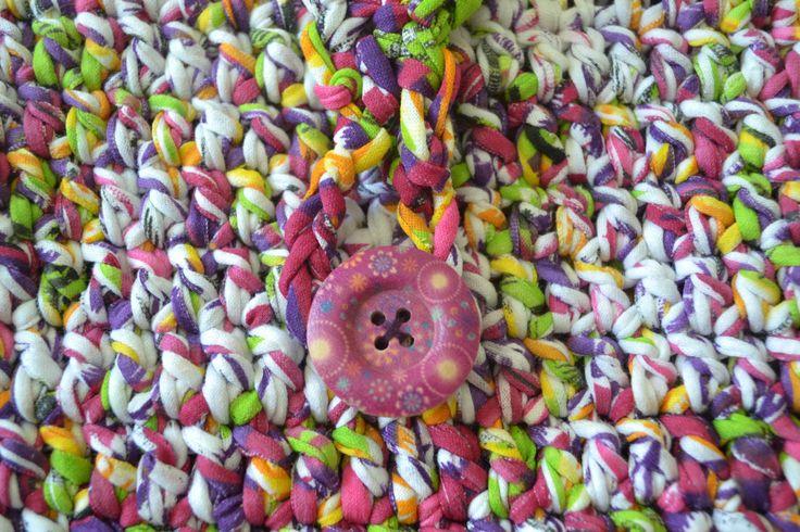 Beach bag. Shoulder colorful bag. Urban crochet bag. Unique handmade bag. Small bag. Chintz bag. Fashion bag. Yarn bag. Free shipping. - pinned by pin4etsy.com