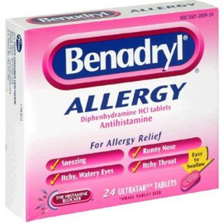 Allergy treatment - Buy cheap: Benadryl (Sominex, Unisom, Diphenhydramine) is an antihistamine. Diphenhydramine blocks the effects of the naturally occurring chemical histamine in the body. It is used to treat sneezing; runny nose; itching, watery eyes; hives; rashes; and other symptoms of allergies and the common cold.