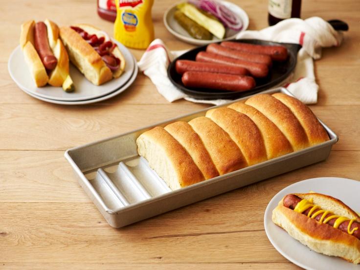 hot dog bun pan. to make lobster rolls. then eat them.