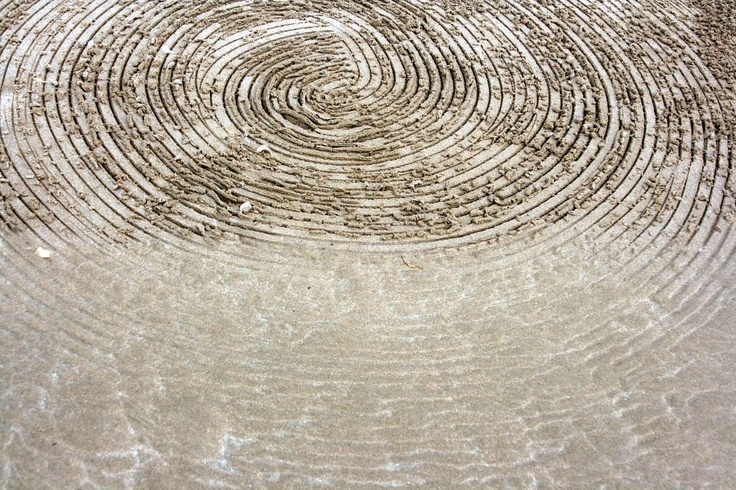 Strijdom van der Merwe's Circles deposited by the tide erased by the first wave