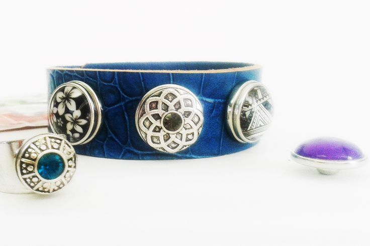 NEW Blue NAKONAKO Kuff interchangeable jewellery mini ring kliks www.nakonakokliks.co.nz