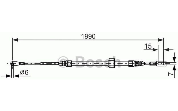 Cable, parking brake BOSCH 1 987 477 854 - Braking system