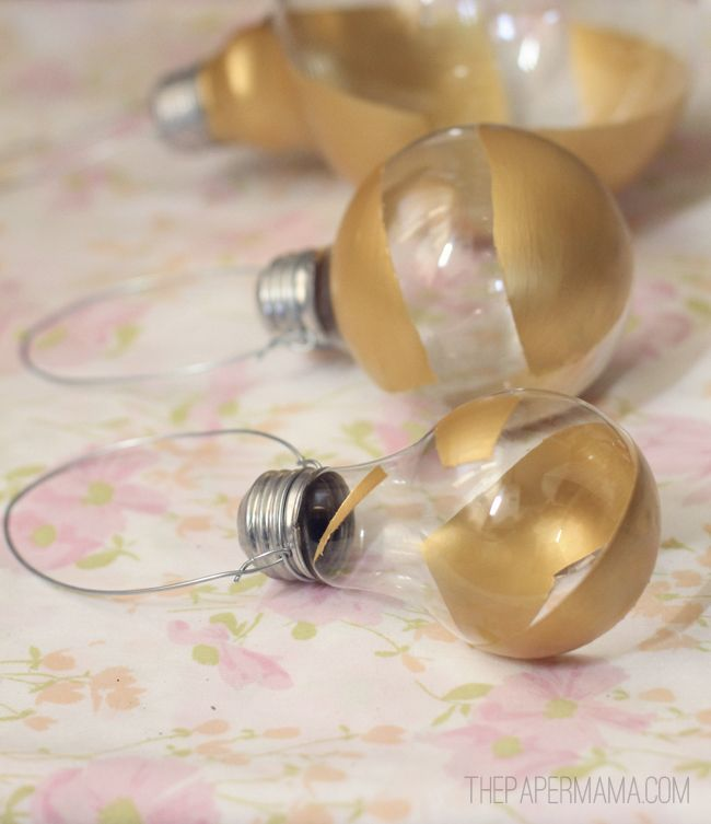 Hanging Lightbulb Herb Vase DIY // thepapermama.com