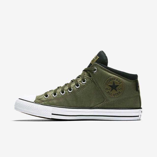 172ebe753b26 Converse Chuck Taylor All Star High Street Cordura-Hi Mens Sneakers (Medium  Olive)
