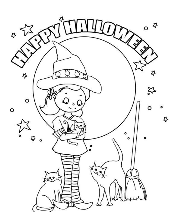 halloween coloring pages for kindergarten - 121 best icolor little kids halloween images on