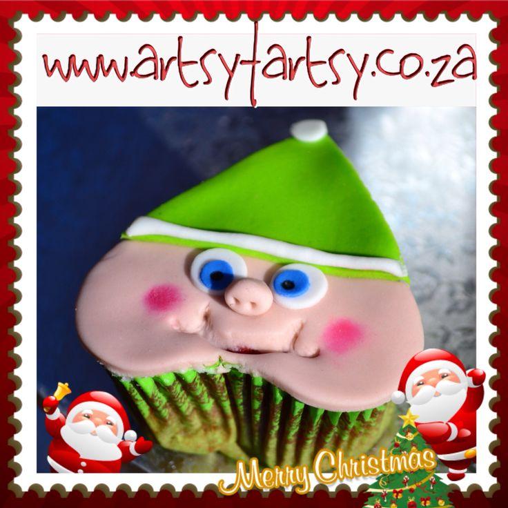 Christmas Elf Cupcakes #christmaselfcupcake