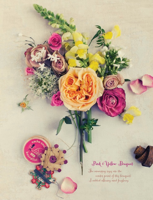 This floral story styled and photographed by Dietlind Wolf is STUNNING!: Summer 2012, Pink Yellow, Flowers Bouquets, Inspiration, 102 103, Flowers Power, Yellow Bouquets, Sweet Paul Magazines, Months Sweet