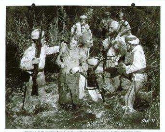 """Dan O'Herlihy captured in """"Bengal Brigade."""" (1954)"""