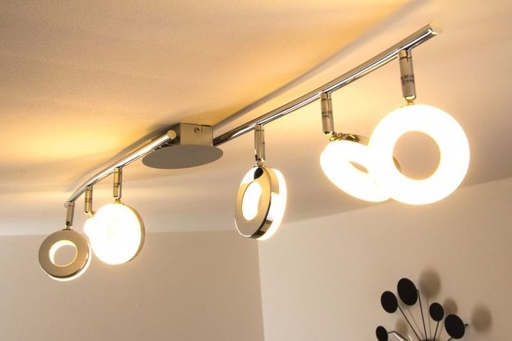 Design LED Deckenspot Lampe Deckenleuchte Chrom Deckenstrahler Deckenlampe