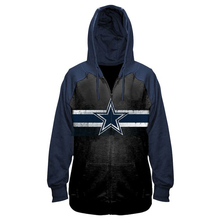 sneakers for cheap 4c339 3ffc4 Women's Plus Size NFL Dallas Cowboys Zip-Up Hoodie, Size ...
