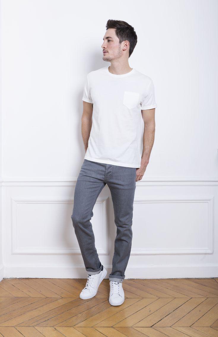Tenue blanche homme fashion designs for Pantalon interieur homme