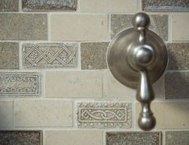 I think this could be our kitchen backslash, except more brownish than grayish.