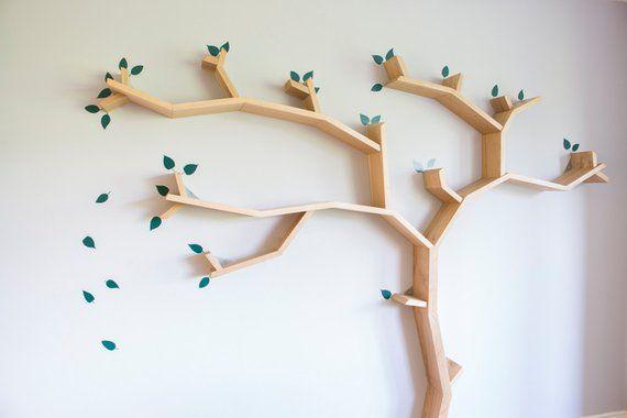 Baum Blatter Wand Aufkleber Set Fur Baum Regale In 2020 Baum Bucherregal Regal Und Rauminspiration